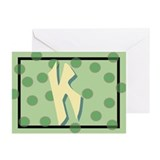 """K"" Pokla-Dot Greeting Cards (Pk of 10)"