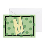 """M"" Pokla-Dot Greeting Cards (Pk of 10)"