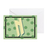 """N"" Pokla-Dot Greeting Cards (Pk of 10)"