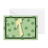 """T"" Pokla-Dot Greeting Cards (Pk of 10)"