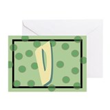 """V"" Pokla-Dot Greeting Cards (Pk of 10)"