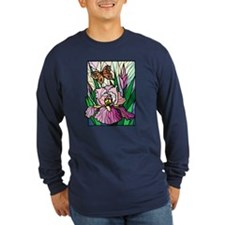 Stained Glass Iris & Butterfly T