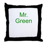 Mr. Green Throw Pillow