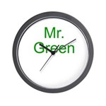 Mr. Green Wall Clock