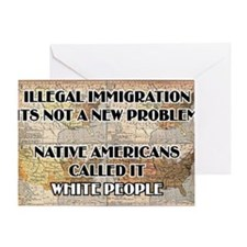 illegal immigration Greeting Card