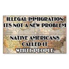 illegal immigration Decal