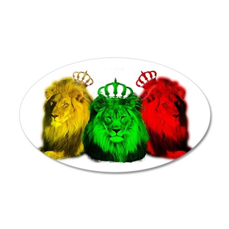 ZIONLION 35x21 Oval Wall Decal