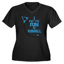 Funnel Women's Plus Size Dark V-Neck T-Shirt