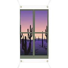 desert sunset Banner