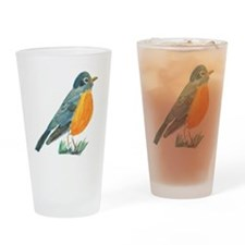 red robin transparent Drinking Glass