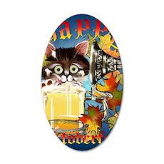 Happy Oktoberfest Kitty Post 35x21 Oval Wall Decal