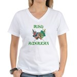 Irish American Unity Women's V-Neck T-Shirt