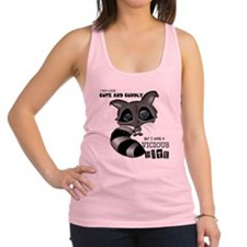 Raccoon Front Racerback Tank Top