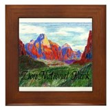 Zion: Down Canyon Framed Tile