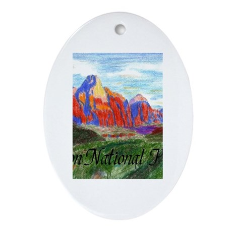 Zion: Down Canyon Oval Ornament