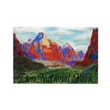 Zion: Down Canyon Rectangle Magnet (10 pack)