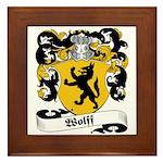 Wolff Coat of Arms Framed Tile