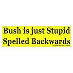 Bush is just Stupid Spelled Backwards