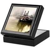 Riverboat Natchez in Fog - Keepsake Box