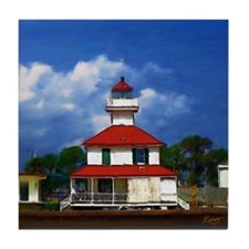 Lighthouse on the Pontchartrain - Tile Coaster