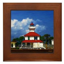 Lighthouse on the Pontchartrain - Framed Tile