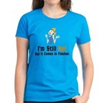 Hot In Flashes Funny Women's Blue T-Shirt