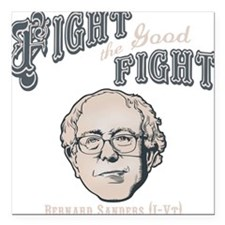 "bernie-fight-DKT Square Car Magnet 3"" x 3"""