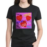 I Love You Women's Dark T-Shirt