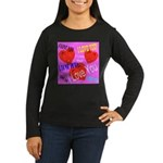 I Love You Women's Long Sleeve Dark T-Shirt