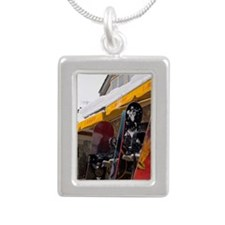 Whistler Village. Snowbo Silver Portrait Necklace