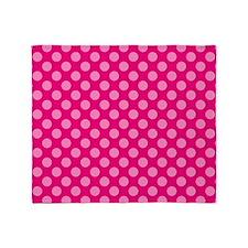 Pink Polka Dots 2 Throw Blanket