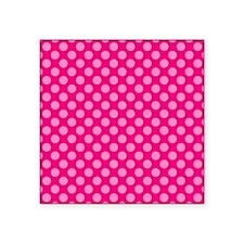"""Pink Polka Dots 2 Square Sticker 3"""" x 3"""""""