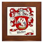 Weller Coat of Arms Framed Tile