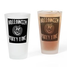 Halloween Party Time Drinking Glass