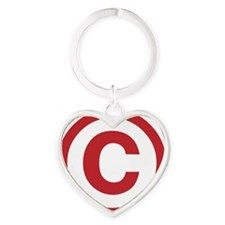 copyright Heart Keychain
