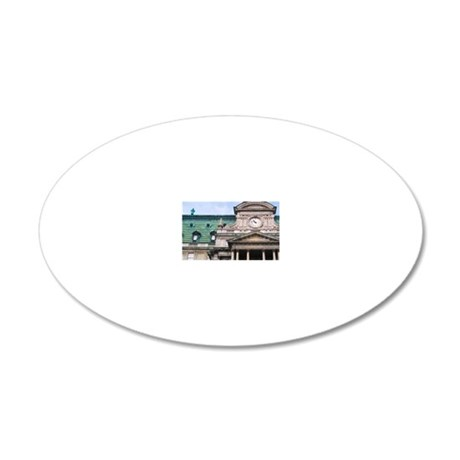 Montreal City Hall (Hotel de 20x12 Oval Wall Decal