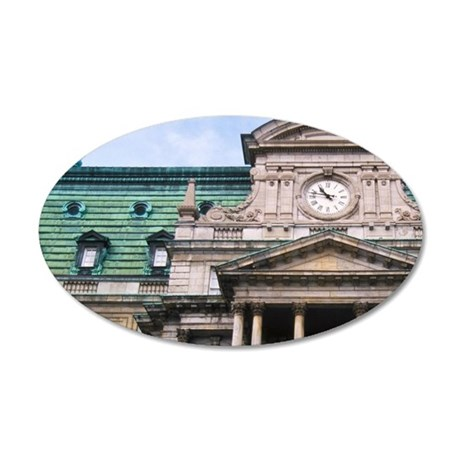 Montreal City Hall (Hotel de 35x21 Oval Wall Decal