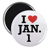 "I Heart January 1 2.25"" Magnet (10 pack)"
