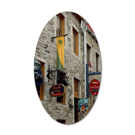 Canada, Quebec, Quebec City. 35x21 Oval Wall Decal