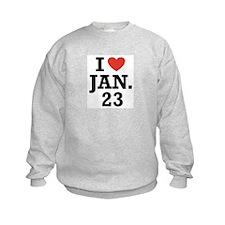 I Heart January 23 Jumper Sweater