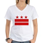 3 Stars 2 Bars Women's V-Neck T-Shirt