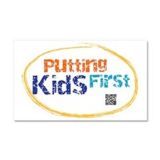 putting kids first Car Magnet 20 x 12