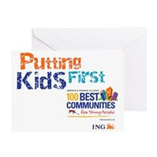 putting kids first2 Greeting Card