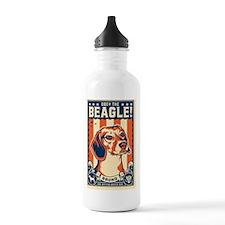 american_beagle_bruno_ Water Bottle