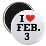 I Heart February 3 Magnet