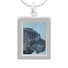 SQ BlackLab Silver Portrait Necklace
