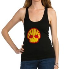 Shell Skull Red Racerback Tank Top