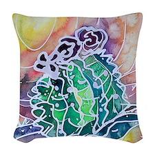 cactus22222 copy Woven Throw Pillow