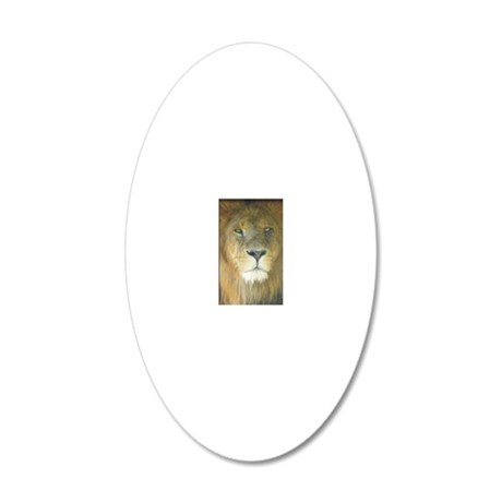 Lion camera 20x12 Oval Wall Decal