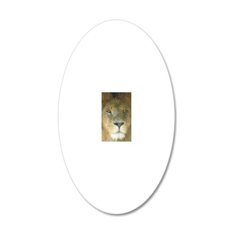Lion iph4 20x12 Oval Wall Decal